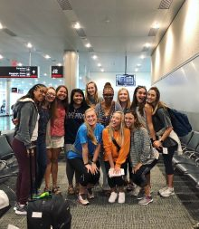 Grenada Study Abroad group in airport